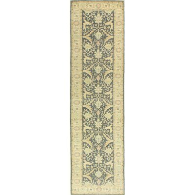 One-of-a-Kind Miliano Hand Woven Wool Light Green/Beige Area Rug
