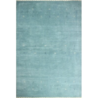 One-of-a-Kind Hartzler Hand Woven Wool Light Blue Area Rug