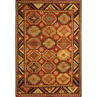 One-of-a-Kind Harrop Hand Woven Wool Red/Yellow Area Rug Rug Size: Rectangle 66 x 94