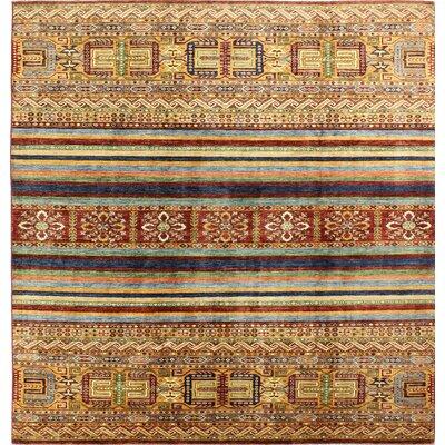 One-of-a-Kind Hartness Hand Woven Wool Brown/Orange Area Rug