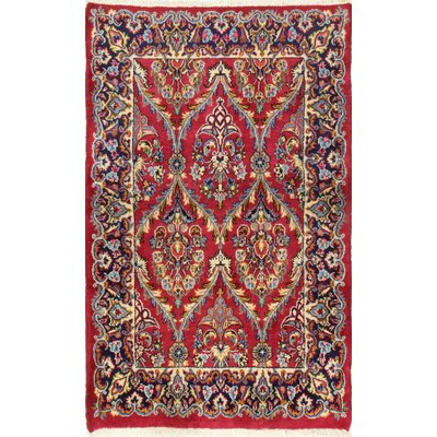One-of-a-Kind Haskett Hand Woven Wool Red Area Rug