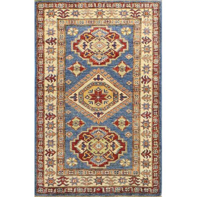 One-of-a-Kind Harrod Hand Woven Wool Light Blue Area Rug
