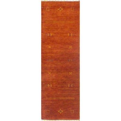 One-of-a-Kind Hartzler Hand Woven Wool Rust Area Rug