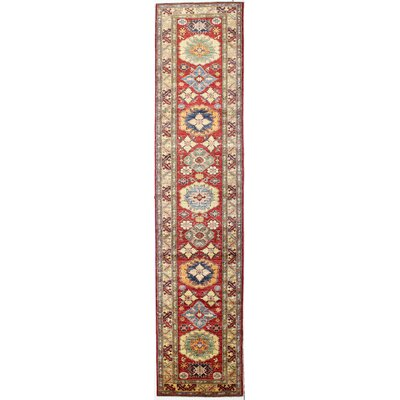 One-of-a-Kind Harrod Hand Woven Wool Red Area Rug