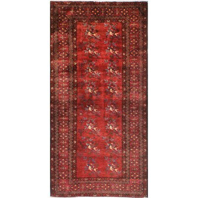 One-of-a-Kind Hartig Hand Woven Wool Red Area Rug