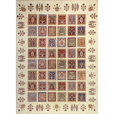 One-of-a-Kind Hartness Hand Woven Wool Ivory/Red Area Rug