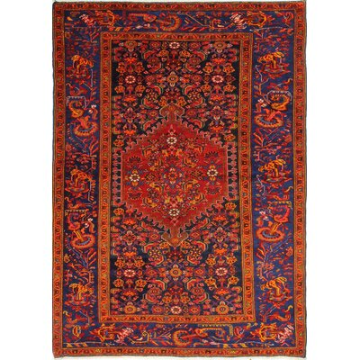 One-of-a-Kind Harward Hand Woven Wool Red/Orange Area Rug
