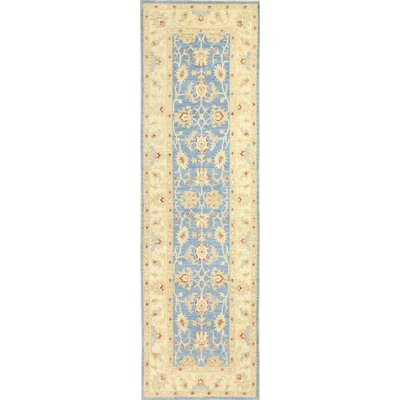 One-of-a-Kind Miliano Hand Knotted Wool Light Blue/Beige Area Rug
