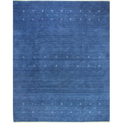 One-of-a-Kind Hartzler Hand Woven Wool Dark Blue Area Rug