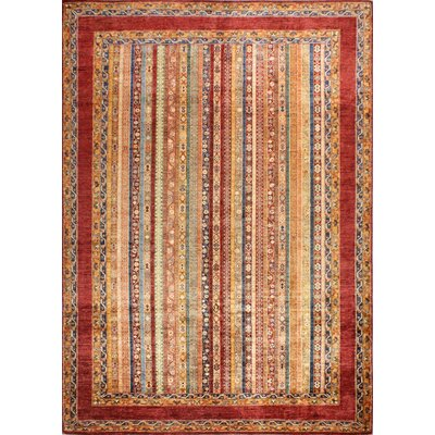 One-of-a-Kind Hartness Hand Woven Wool Rust Area Rug