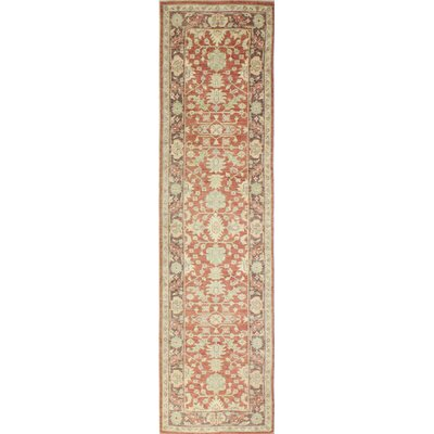 One-of-a-Kind Miliano Hand Knotted Wool Red/Beige Area Rug