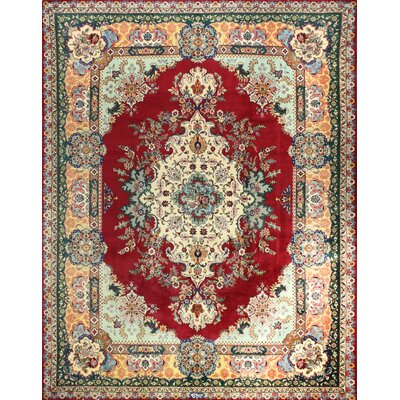 One-of-a-Kind Lincolnwood Hand Woven Wool Red/Beige Area Rug