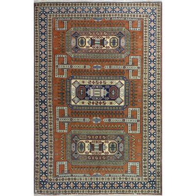 One-of-a-Kind Harty Hand Woven Wool Rust Area Rug