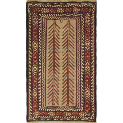 One-of-a-Kind Pals Hand Knotted Wool Red/Tan Area Rug