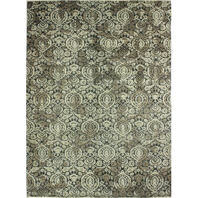 One-of-a-Kind Miliano Hand Knotted Wool Slate Area Rug