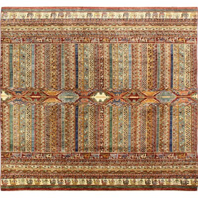 One-of-a-Kind Hartness Hand Woven Wool Brown/Green/Ivory Area Rug