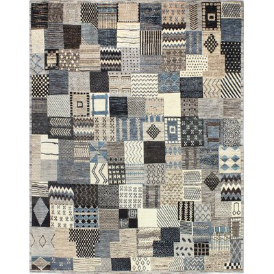 One-of-a-Kind Hartzell Hand Woven Wool Blue/Gray/Beige Area Rug