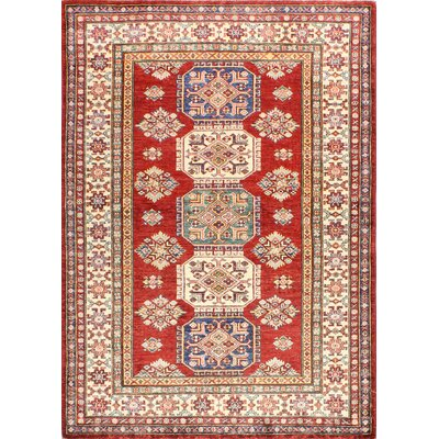 One-of-a-Kind Harrod Hand Woven Wool Rust Area Rug