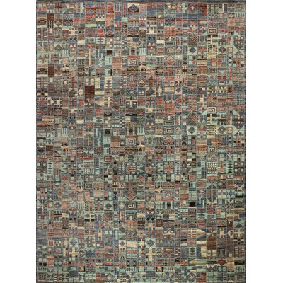 One-of-a-Kind Hartzell Hand Woven Wool Brown/Blue Area Rug