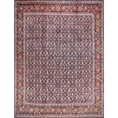 One-of-a-Kind Hartt Hand Woven Wool Red/Dark Blue Area Rug