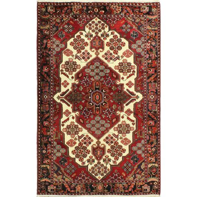 One-of-a-Kind Hartshorn Hand Woven Wool Red/Ivory Area Rug
