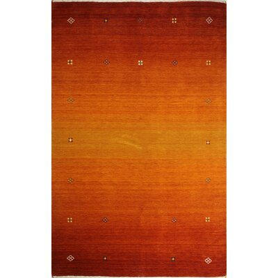 One-of-a-Kind Hartzler Hand Woven Wool Orange Area Rug
