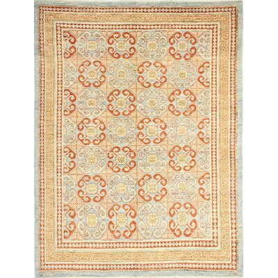 One-of-a-Kind Harvell Hand Woven Wool Blue Area Rug