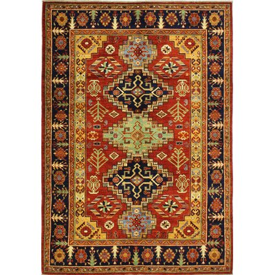 One-of-a-Kind Harrop Hand Woven Wool Red Area Rug