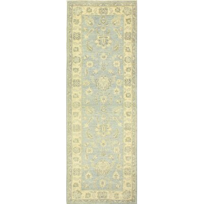 One-of-a-Kind Miliano Hand Woven Wool Light Blue/Tan Area Rug