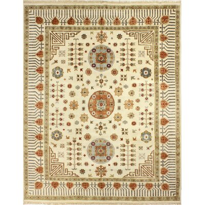 One-of-a-Kind Harvill Hand Woven Wool Ivory Area Rug