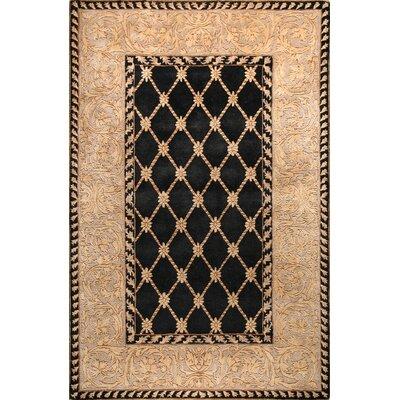 Versailles Ganges Black Rug Rug Size: 79 x 99