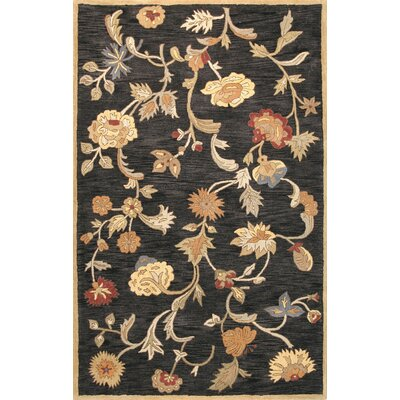 Essex Black Area Rug Rug Size: 39 x 59
