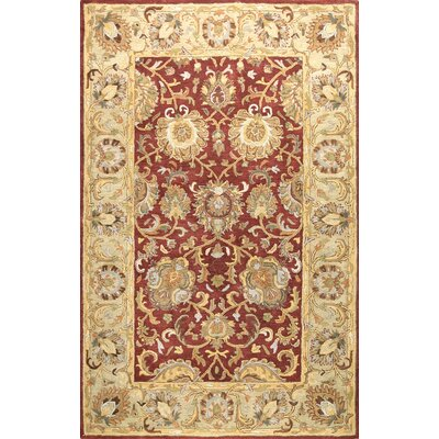 Essex Red Area Rug Rug Size: Rectangle 56 x 86