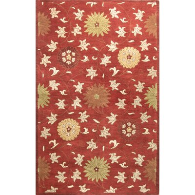 Essex Red Area Rug Rug Size: 56 x 86