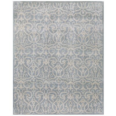 Rajput Light Blue Archaic Area Rug Rug Size: Rectangle 86 x 116