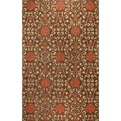 Tymeo Chocolate Area Rug Rug Size: 36 x 56