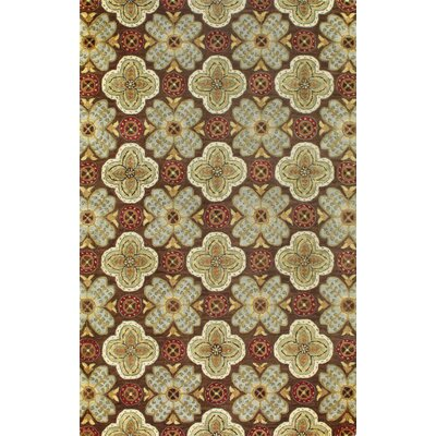 Essex Chocolate Area Rug Rug Size: 5'6