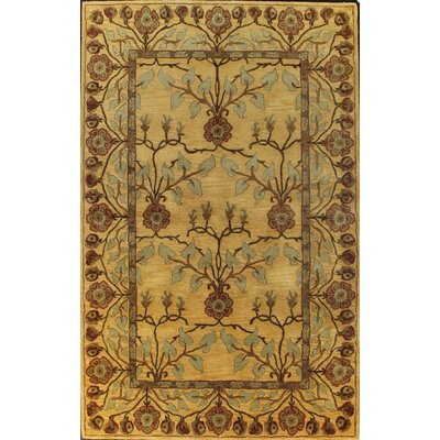 Essex Gold Area Rug Rug Size: 79 x 99