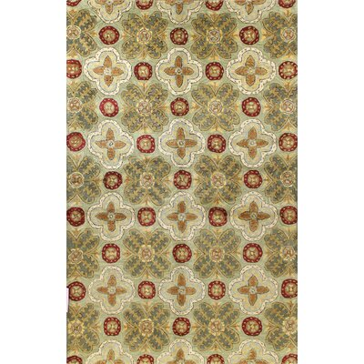 Essex Light Green Area Rug Rug Size: 5'6