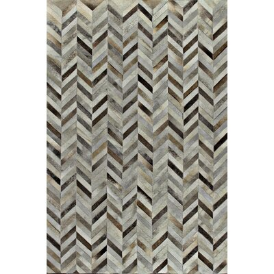 Tuscon Cow Hide Grey Area Rug Rug Size: 9 x 12