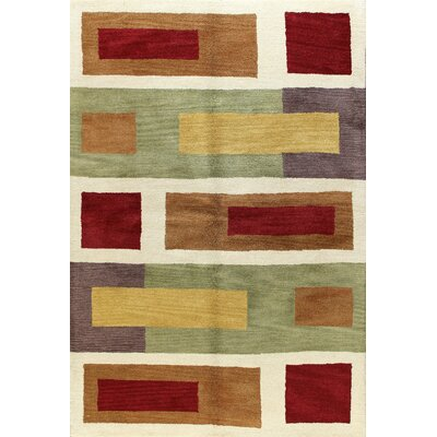 Punjab Multi-Colored Rug Rug Size: 76 x 96
