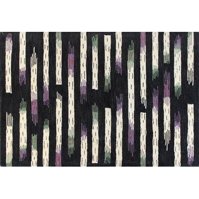 Ashland Black Area Rug Rug Size: Rectangle 86 x 116