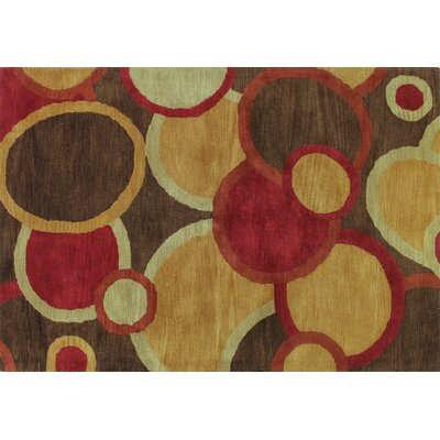 Ashland Chocolate Circle Area Rug Rug Size: 76 x 96