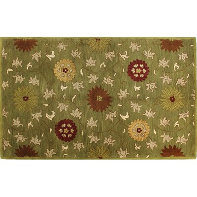 Essex Green Area Rug Rug Size: 79 x 99