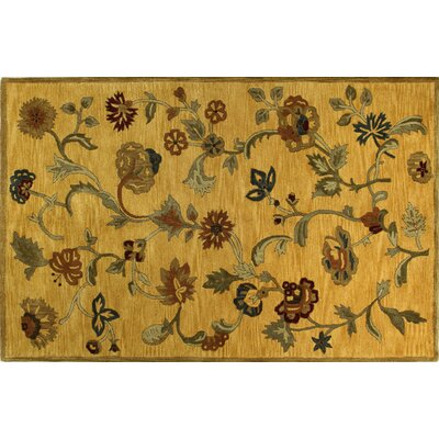 Essex Gold Area Rug Rug Size: 39 x 59