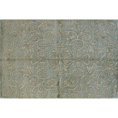 Royale Light Blue Area Rug Rug Size: 6 x 9