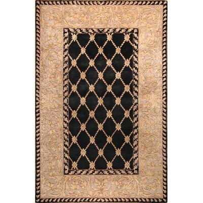 Versailles Ganges Black Rug Rug Size: 39 x 59