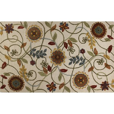 Boardwalk Hand-Tufted Ivory Area Rug Rug Size: 36 x 56