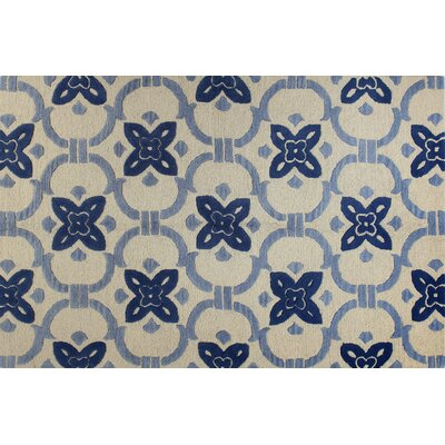 Nesmith Hand-Tufted Ivory Area Rug Rug Size: 5 x 76