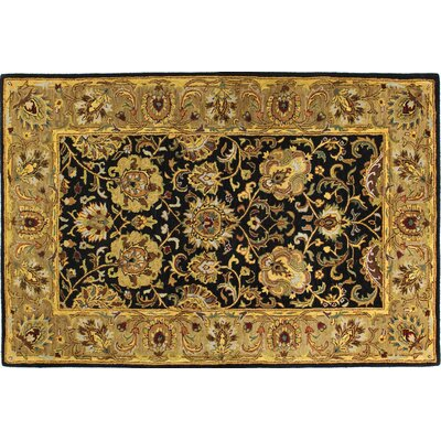 Essex Black Area Rug Rug Size: 56 x 86